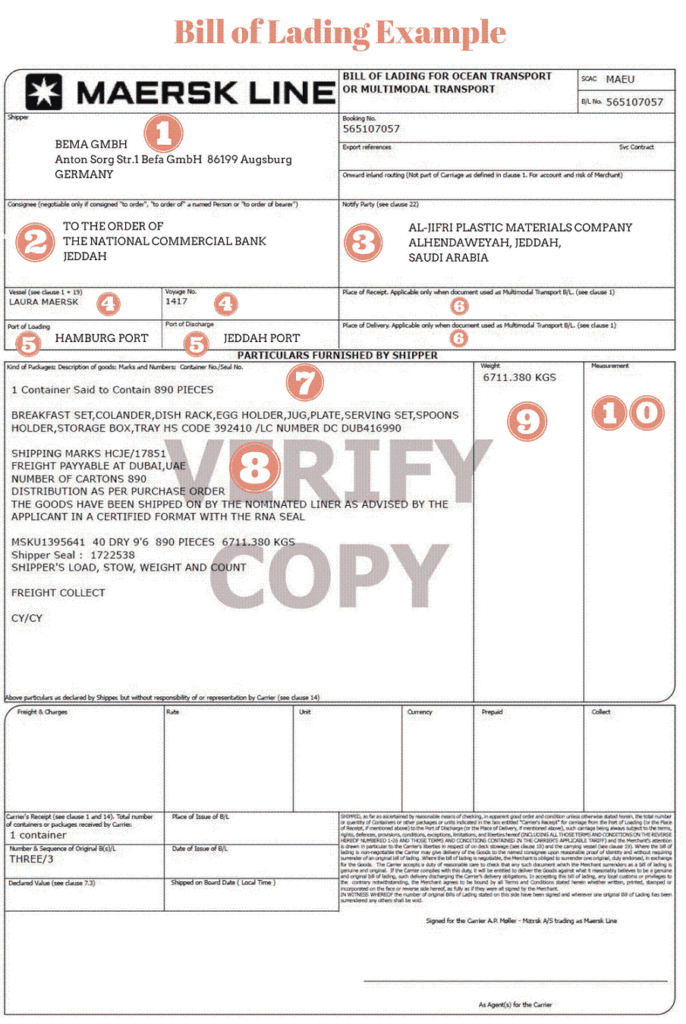 bill-of-lading-exemple